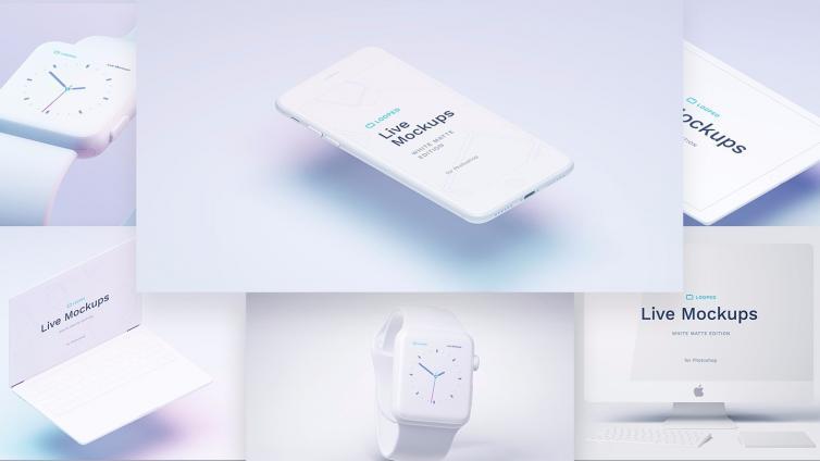 8个绝佳的白色苹果系 mockup ( sketch + psd )