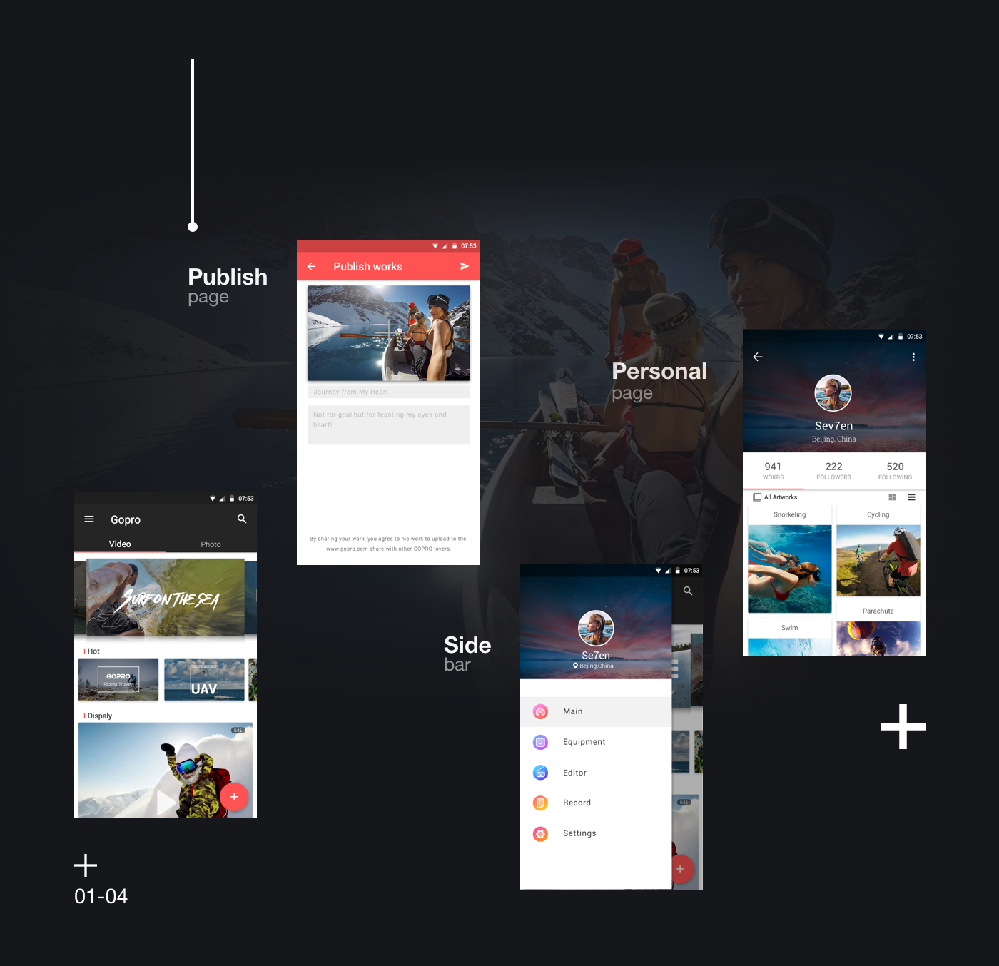 Gopro APP Design For Android(Material Design)GUI - 学员