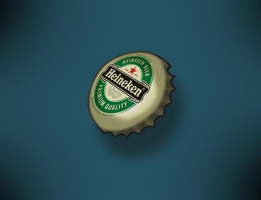 photoshop作业3-临摹啤酒瓶盖