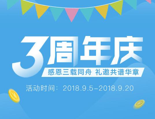 3周年庆活动页