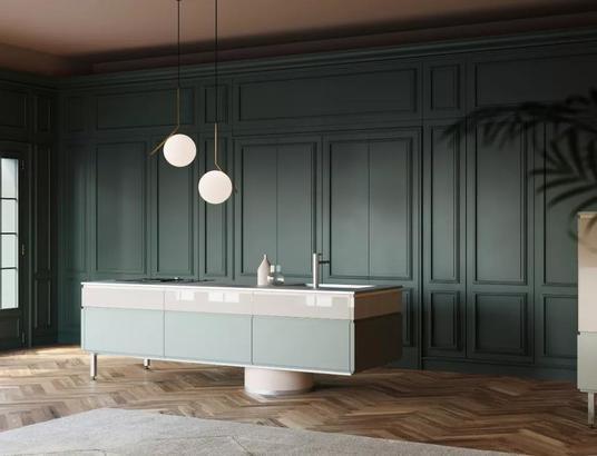 轻奢主义的厨房空间