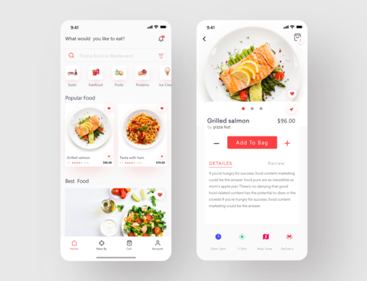 Restaurant Food App Design
